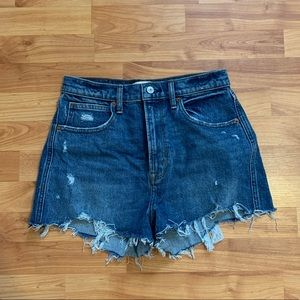 Abercrombie and Fitch Ultra high rise Mom Shorts